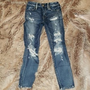 American Eagle ripped jeans size 0